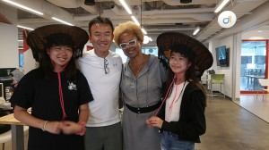 San Eng and daughters, with Paula Madison